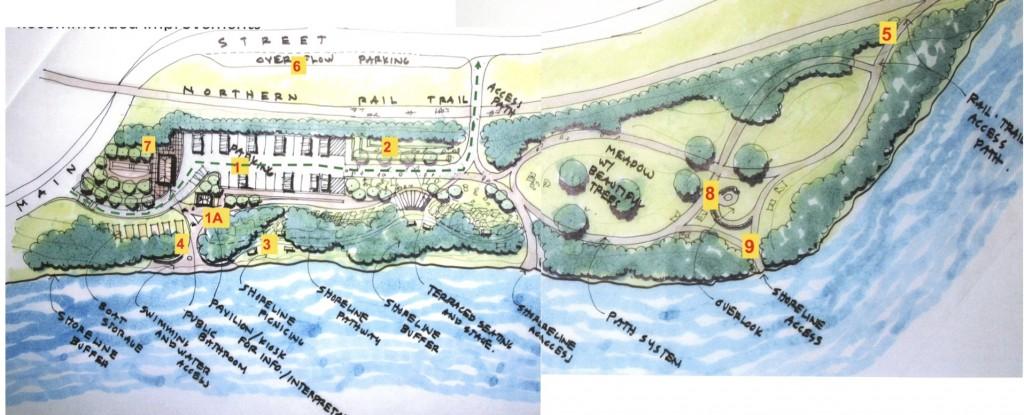 Mascoma Lakeside Park Concept Sketch