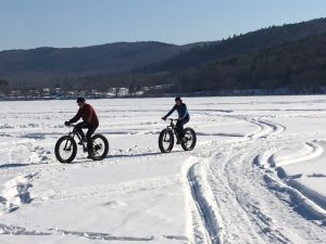Fat bikes on the lake